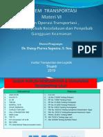 Materi VI Sistem Operasi Transportasi , Faktor Penyebab Kecelakaan Dan Penyebab Gangguan Keamanan 2019