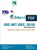 Ugc Net Dec 2018 Paper