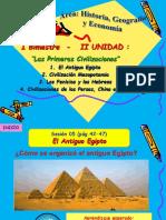 Unidad II Las Primeras Civilizaciones - Primer Grado - Historia