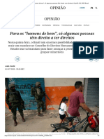 """Para Os """"Homens de Bem"""", Só Algumas Pessoas Têm Direito a Ter Direitos _ Opinião _ EL PAÍS Brasil"""
