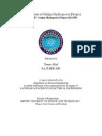 Internship Report of Gulper Hydropower Project Umair