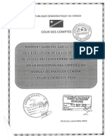 Rapport Cour Des Comptes RDC Budget 2018