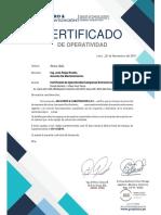 Certificado BB PV Tacna 19-11-19