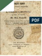 Vito Capialbi, Documenti inediti circa la voluta ribellione di Tommaso Campanella, 1845