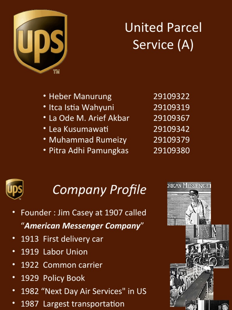 an analysis of united parcel service United parcel service essay examples 6 total results  an analysis of the history of the united parcel service and the strike of the international brotherhood of.