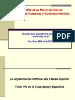 Organización Territorial del Estado Español