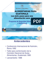 Guatemala - Presentacion Guias Alimentarias[1]