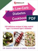 The Low-Carb Diabetes Cookbook 100 Delicious Recipe
