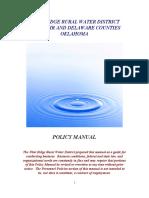 SDCRWA Policy Manual 2015