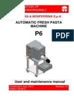 La Monferrina p6 User Manual