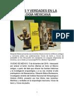 Mentiras y Verdades Arqueologia Mexicana