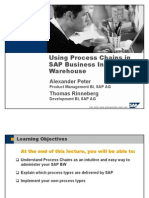 Using Process Chains in SAP Business Information