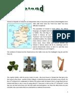 Ireland Reading Comprehension