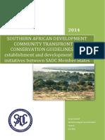 SADC TFCA Guidelines