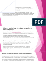 CLOUD TECHNOLOGY DISRUPTION IN THE OIL & GAS INDUSTRY