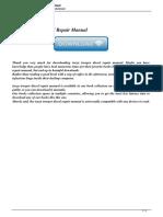 Isuzu Trooper Diesel Repair Manual