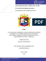 Evaluación de La Implementación Del Sistema de Gestión de Seguridad