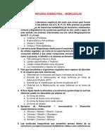 Taller Refuerzo Examen Final - BIOMOLECULAS - 2019-4