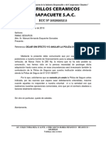 Carta Seguro Rimac SAC