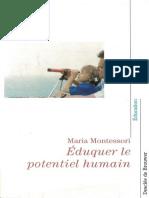 Maria Montessori - Eduquer Le Potentiel Humain-Desclée de Brouwer (2003)