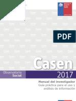 Manual del investigador - CASEN 2017