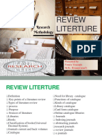 research methodology  review literature