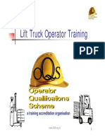 Lift truck operator training