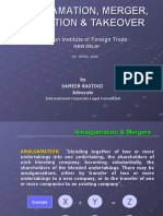 Amalgamation, Merger, Acquisition & Takeover - Doing Business in India MA