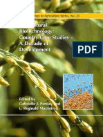 Agricultural Biotechnology Country Case Studies a Decade of Development Gabrielle j Persley