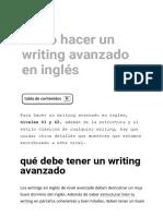 Pautas para hacer un writing avanzado