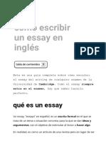 Cómo Escribir Un Essay en Inglés – Idiomium