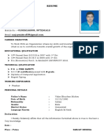 Sanjay Resume Fire Safety PDF