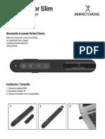 Presentador Slim Perfect Choice - Guía de Usuario PC-044871 Español