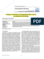 Changes in Hardness of Magnesium Alloys Due to Pre