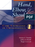Hand, elbow, shoulder