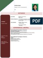 Cv Indira Sanchez