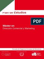 Plan de Estudios - Máster en Dirección Comercial y Marketing