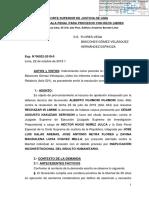 Resolución que rechaza habeas corpus presentado a favor de Alberto Fujimori