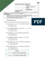Evaluación Ecuación Cuadrática Adaptada