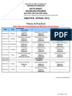 Date Sheet Spring 2010