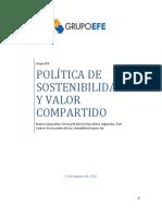 Politica Sostenibilidad y Valor Compartido Grupo Efe Actualizacion 2016