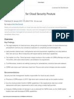 Gartner Reprint Cloud Security Posture Management