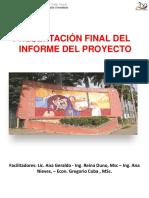 Presentaci+¦n del Informe de Proyecto