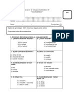 Evaluación de Lectura Complementaria La Polilla Del Baul