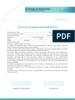 Acta Quirurgica