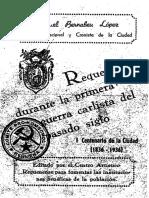 Requena Durante La Primera Guerra Carlista (Rafael Bernabeu López) 1936