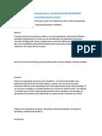 El Desarrollo de Aprendizaje Autónomo a Partir de La Identificación de Los Estilos de Aprendizaje