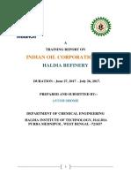 IOCL Haldia Refinery report