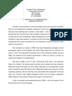 Sample of narrative report