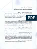 Ordenanza N° 05 - 2016